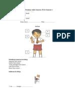 Soal Dan Kunci Jawaban PAS Bahasa Sunda Kelas 1 Semester 1 k13 Sd-mi