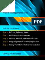 Project Management Scope Jan 2018