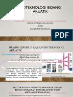 Bioteknologi bidang akuatik