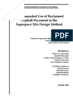 (NCHRP Web Document 30) McDaniel, Rebecca S._ Soleymani, Hamid_ Anderson, R. Michael_ Turner, Pamela_ Peterson, Robert - Recommended Use of Reclaimed Asphalt Pavement in the Superpave Mix Design Metho.pdf