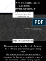 Human Person and Values Development
