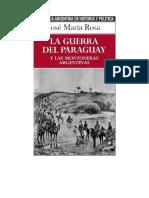 Rosa Jose Maria La Guerra Del Paraguay Y Las Montoneras Argentinas (1)