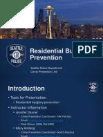 SW Res Burglary Prevention Presentation Oct 2019