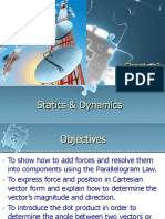 Statics and dynamics vector analysis