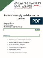 World Supplu and Demand Bentonite 2015