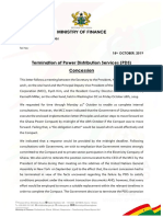 Gov't's position on termination of PDS agreement and way forward