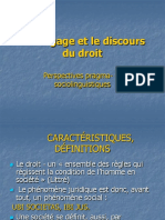 Le Langage Et Le Discours Du Droit (1)
