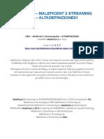 {FILM-2019} – MALEFICENT 2 STREAMING (ITA) – ALTADEFINIZIONE01