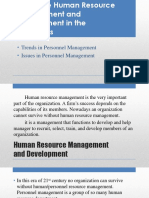 Trends and Issues in Personnel Management