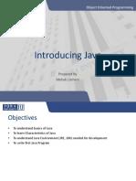 Introducing Java