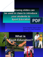 introduction of sport education