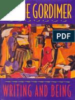 Nadine Gordimer - Writing and Being