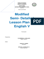 Lesson Plan for Demonstration Eng 5 Q1 Week 8