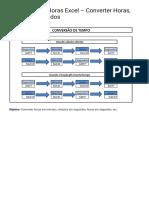 Conversão de Horas Excel - Converter Horas, Minutos, Segundos