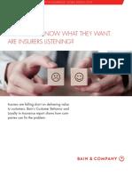 Bain Report-customer Behavior and Loyalty in Insurance 2018