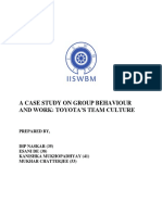 A Case Study on Group Behaviour and Work