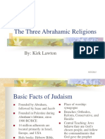The Three Abrahamic Religions