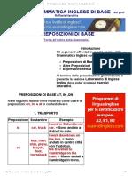 Preposizioni Di Base - Grammatica Inglese Gratis