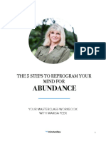 The 5 Steps to Reprogram Your Mind for Abundance Masterclass With Marisa Peer Workbook