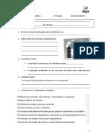 Estudo do meio - 3.º ano - 1.ºperíodo - Ficha Intermedia 2