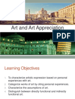 Lecture 1. the Meaning of Art Appreciation