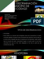 Tipos de Discriminación en El Municipio de Agustín Codazzi