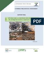 Etude Sur La Gestion Des Dechets Plastiques Dans l'Espace Uemoa