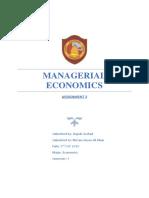 Managerial Economics Ass2
