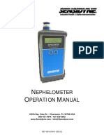 Nephelometer Operation Manual - 360-0138-01rB