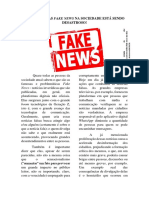 o Impacto Das Fake News Na Sociedade Está Sendo Desastroso