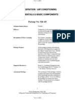 Refrigeration-Air Conditioning Fundamentals & Basic Components (91 Pages)