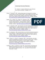 sport education publications