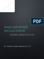 What Importers Should Know