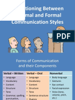 M7L1 PPT Transitioning Between Informal and Formal Communication Styles