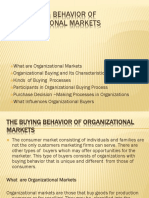 The Buying Behavior of Organizational Markets.pptx 010318