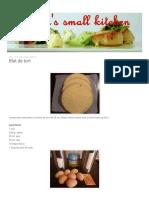 Deea's Small Kitchen_ Blat de Tort
