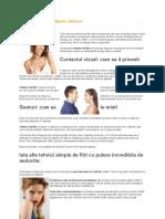 Tehnici de Flirt Prin Limbajul Trupului