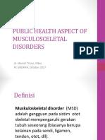 1 PUBLIC HEALTH ASPECT OF MUSCULOSCELETAL DISORDERS.ppt