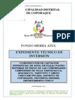 CONSTRUCCION DE CAPTACION SUPERFICIAL DE AGUA; EN EL(LA) CUATRO SISTEMAS DE RIEGO DE LAS COMUNIDADES CAMPESINAS DE VILLA TAHUAPALCCA, APACHACCO, TARUCUYO Y ANEXO CHECCANI PUCARA