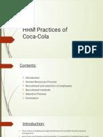 HRM of coca -cola(1)