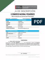 II Congreso Nacional Pedagógico - Ficha de Inscripción - Dreh