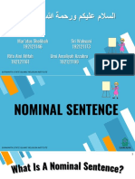 Nominal Sentence