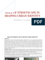 Role of Streetscape in Shaping Urban Identity