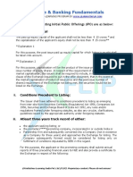 Eligibility Criteria - IPO