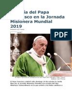 Homilia Papa 20.10.19