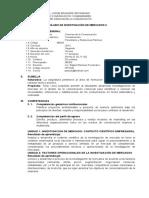 Silabo Investigacion de Mercado II - 2019 - II