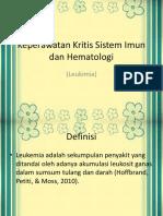 kritis sistem hematologi