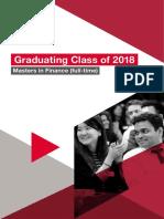London Businss School MIF Class Directory 2018