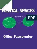 1fauconnier Gilles Mental Spaces 1994