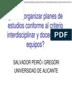 De La Interdisciplinariedad a La Integración de Enseñanzas-1994-Peiró